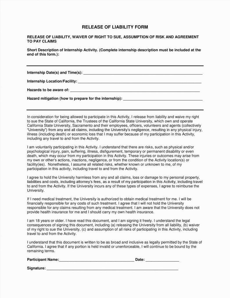 Liability Waiver Template Yoga