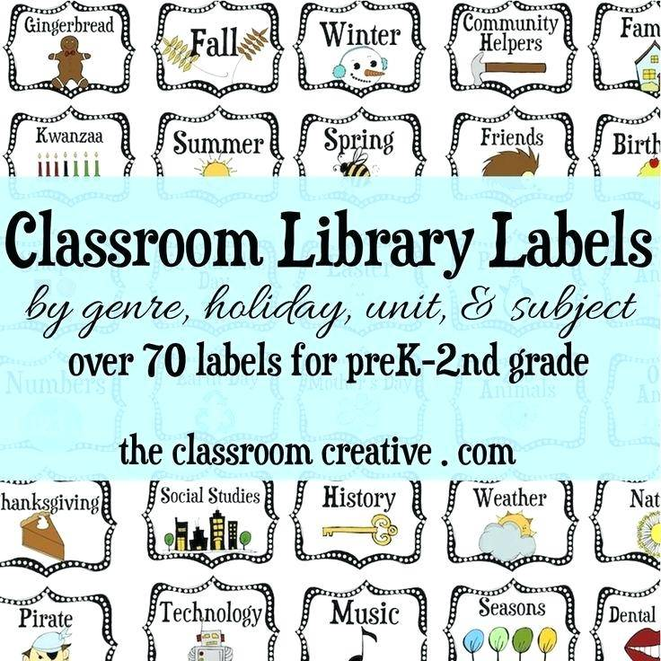 Library Book Spine Labels Template