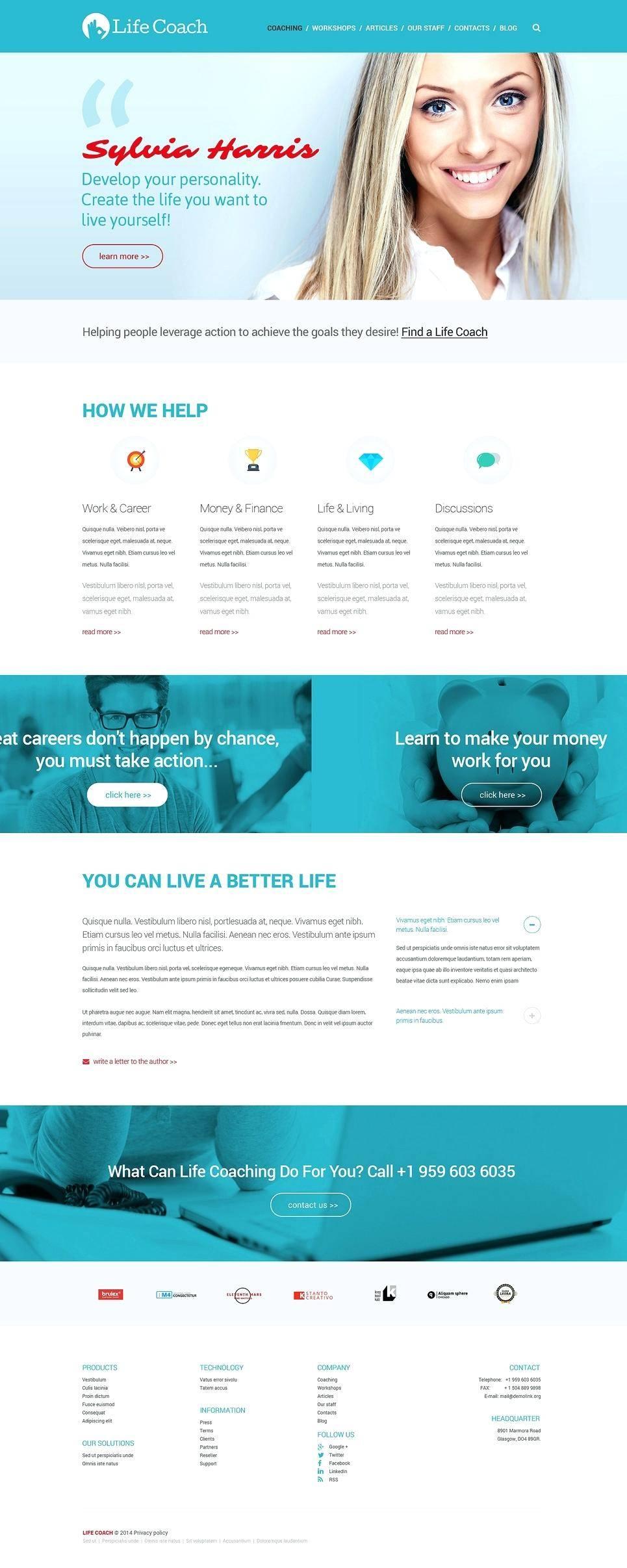 Life Coaching Websites Templates