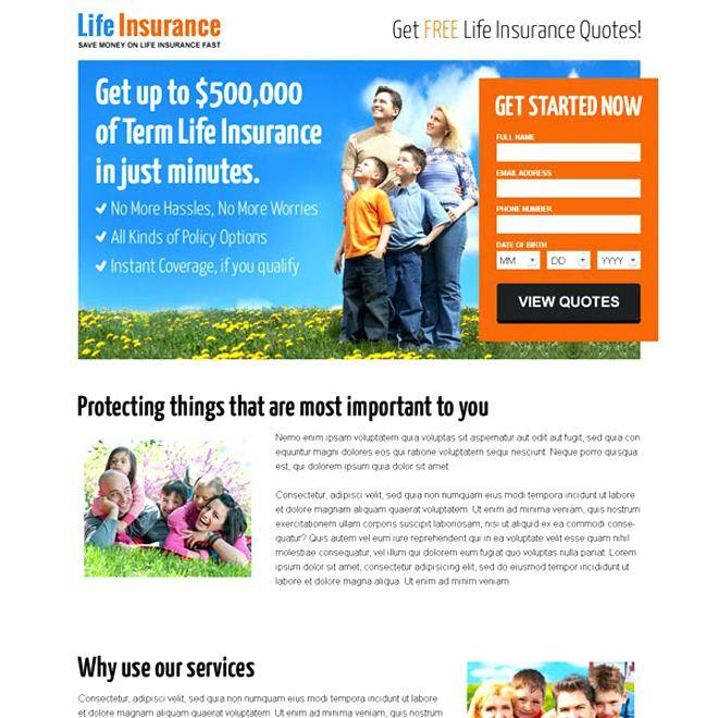 Life Insurance Website Templates Free