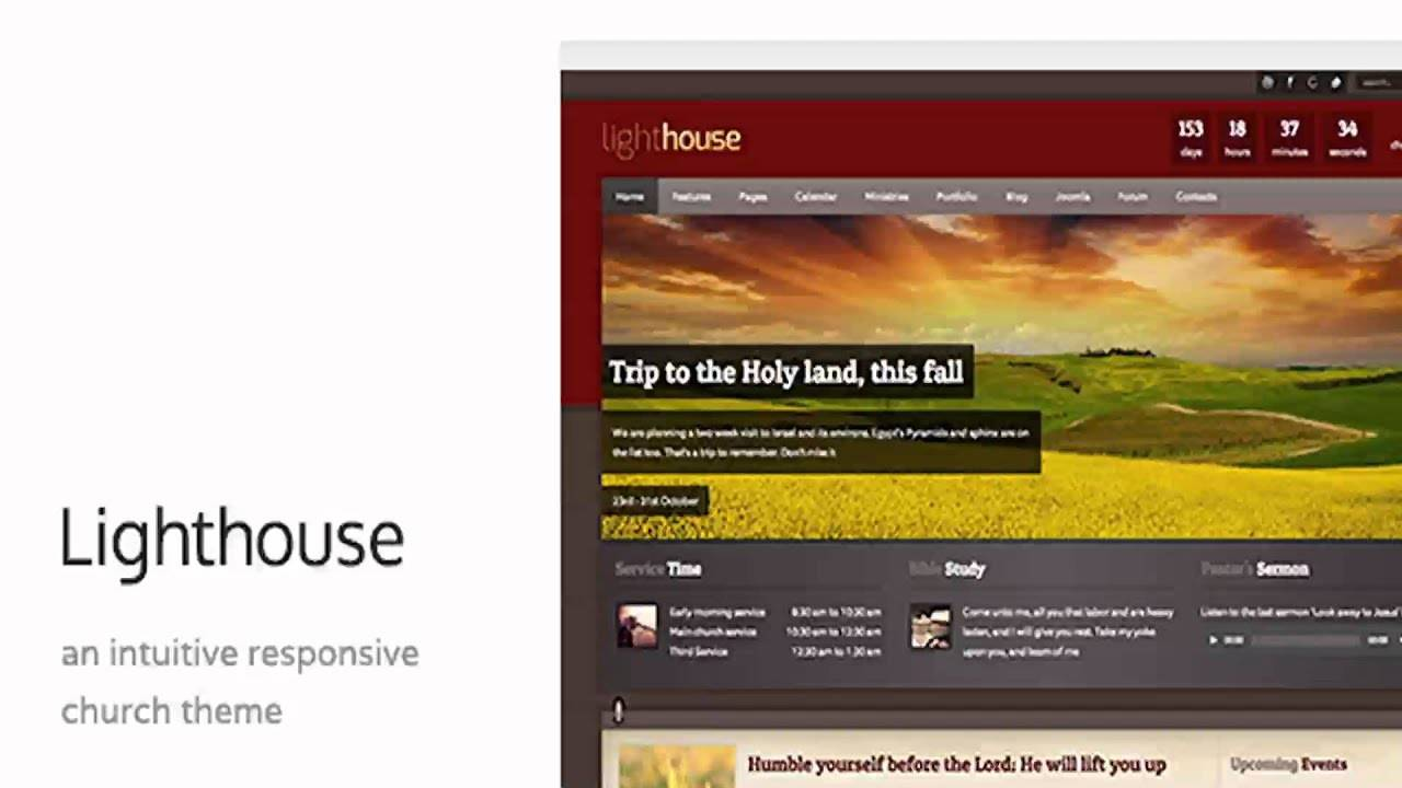 Lighthouse Church Joomla Template