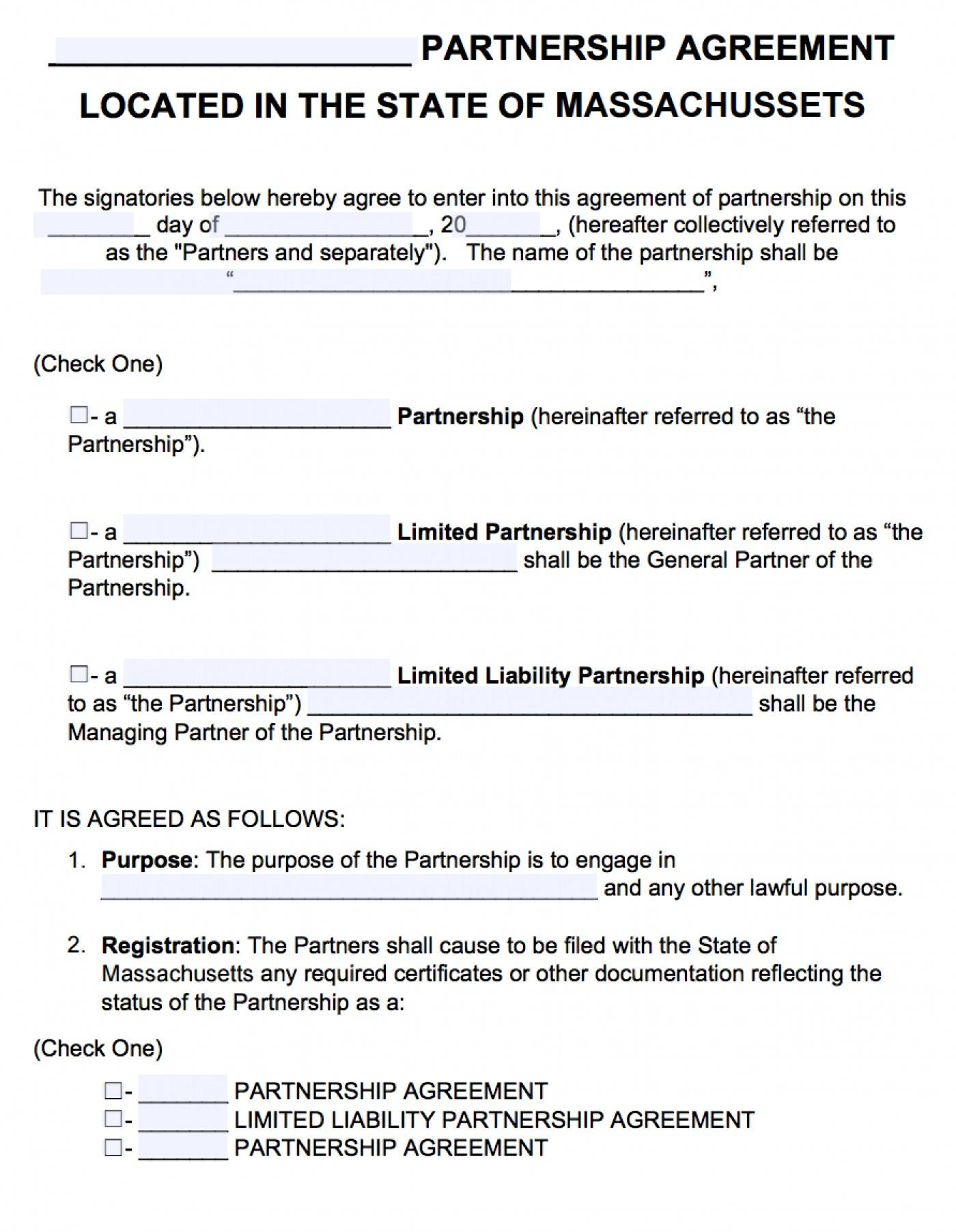Limited Liability Partnership Agreement Template India