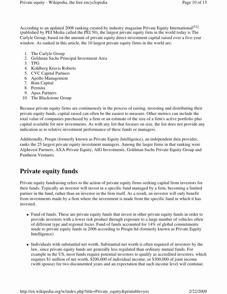 Limited Partnership Agreement Template Private Equity