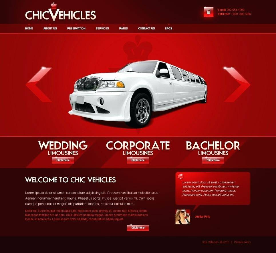 Limo Anywhere Website Templates