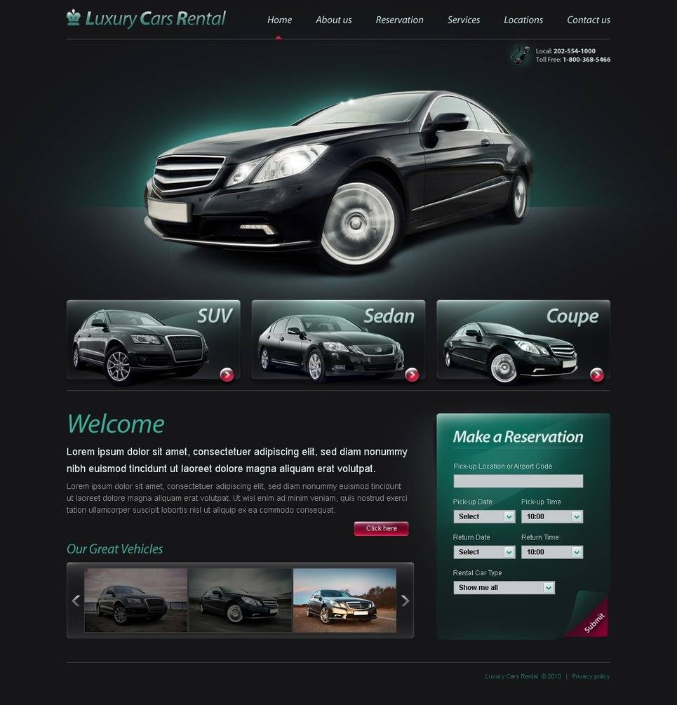 Limo Service Website Templates