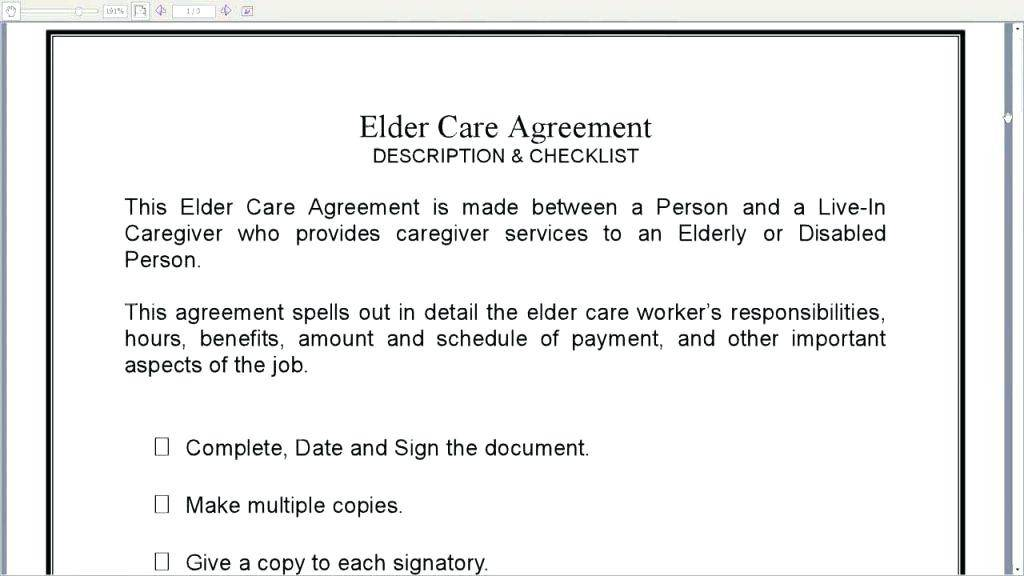 Live Out Caregiver Contract Template Canada
