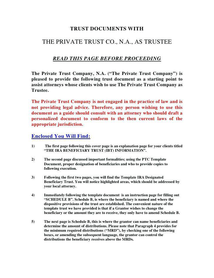 Living Revocable Trust Documents