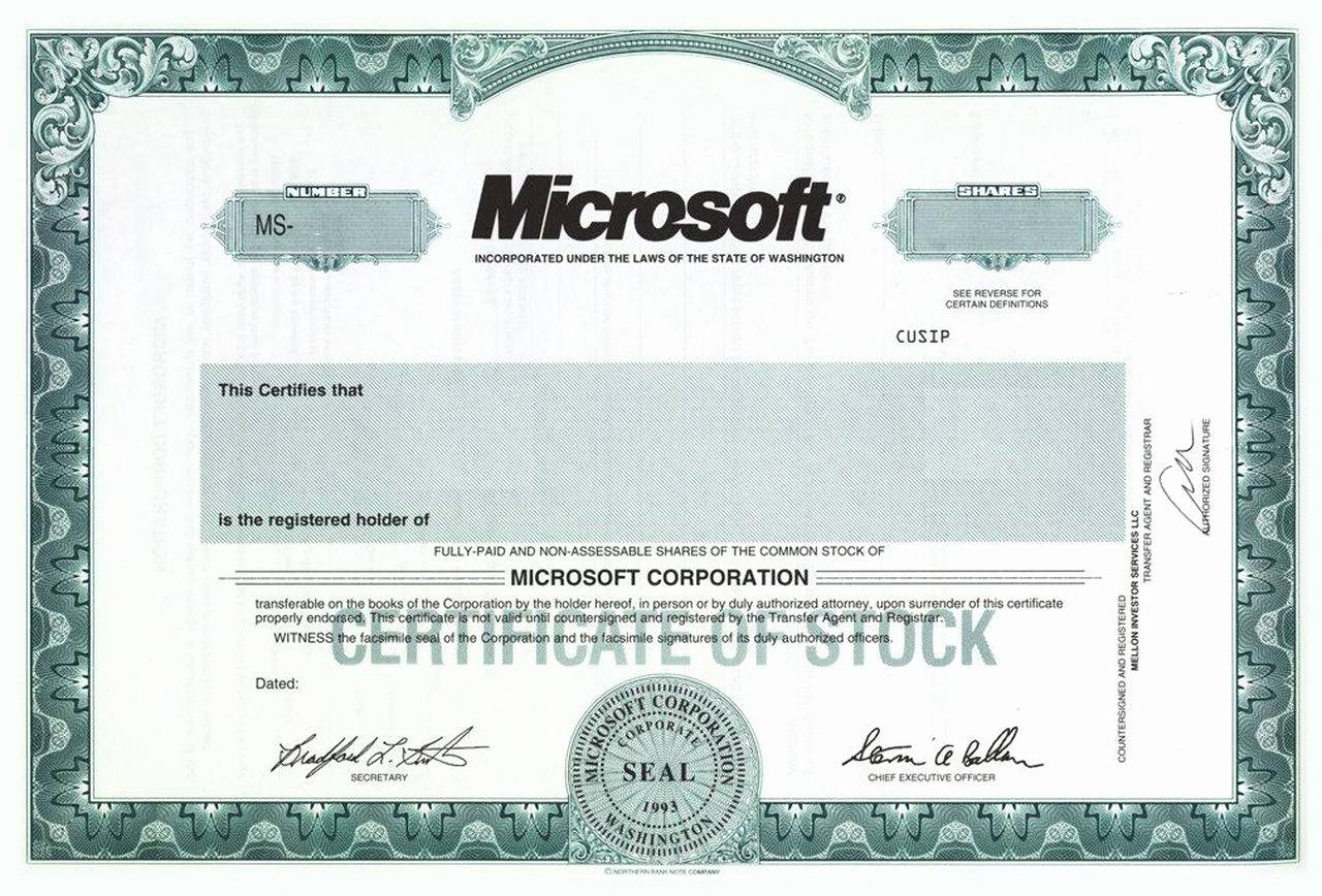 Llc Stock Certificate Template