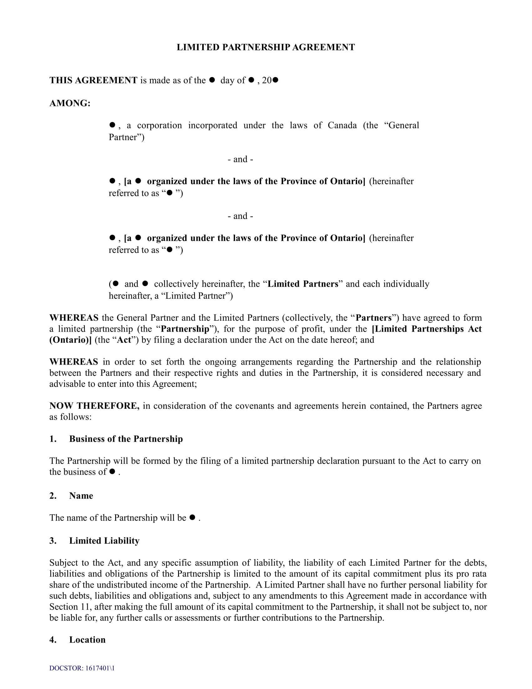 Llp Agreement Template Pdf