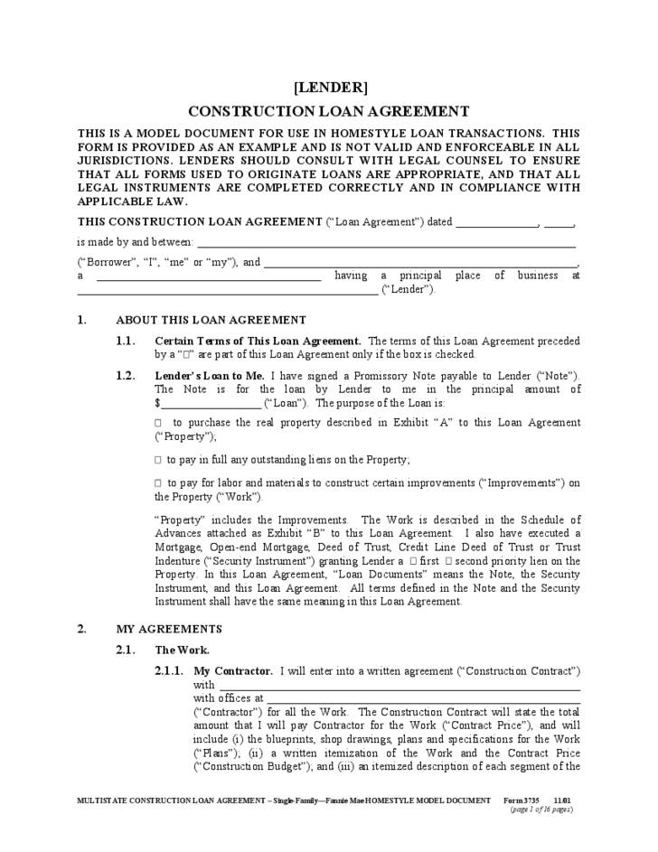 Loan Agreement Template Free Download South Africa