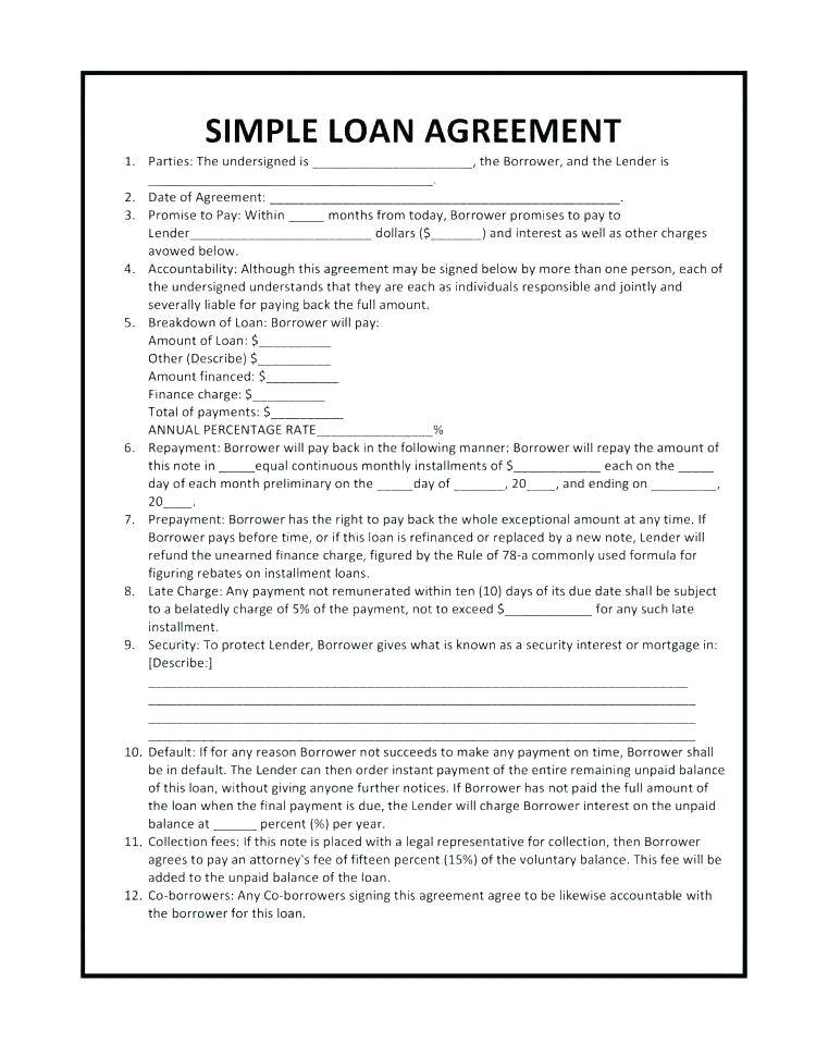 Loan Agreement Template Word Download Free