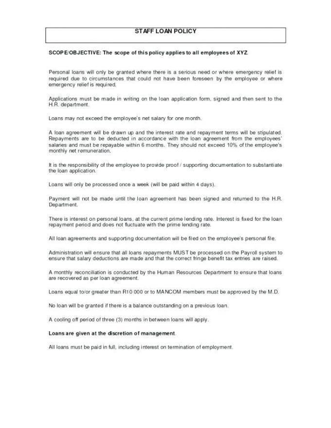 Loan Agreement Template Word Uk