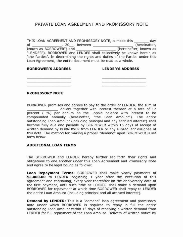 Loan Contract Sample Pdf