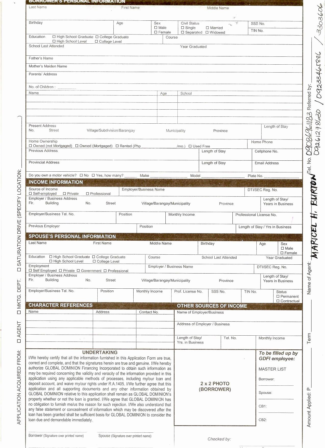 Loan Contract Template Doc