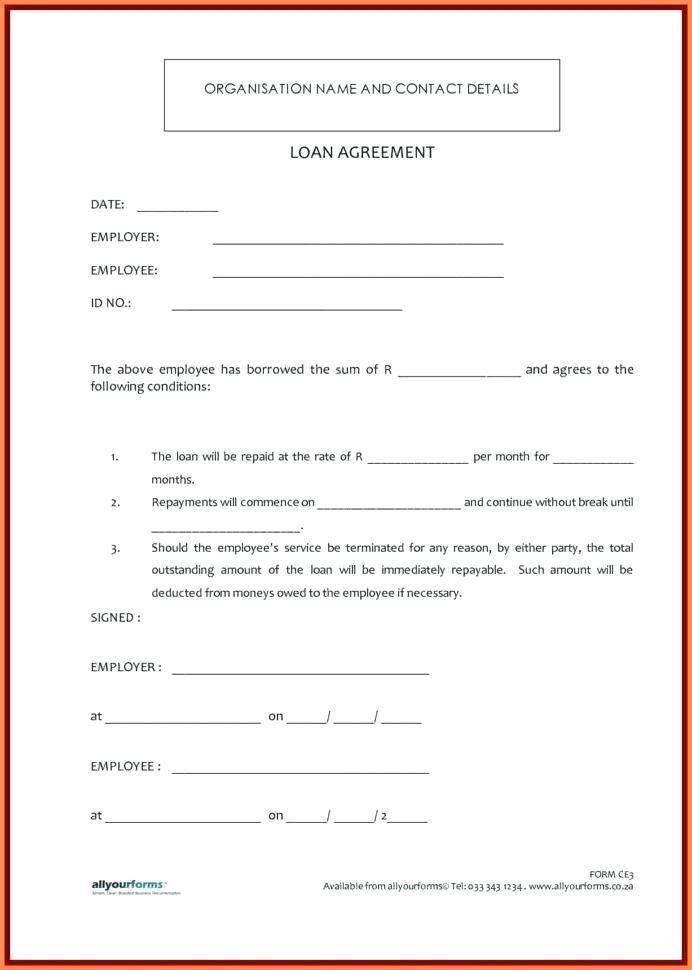 Loan Letter Template Uk