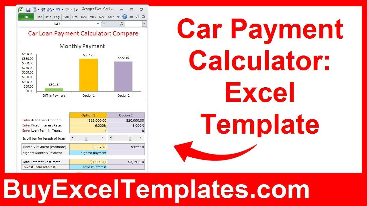 Loan Payment Calculator Excel Template