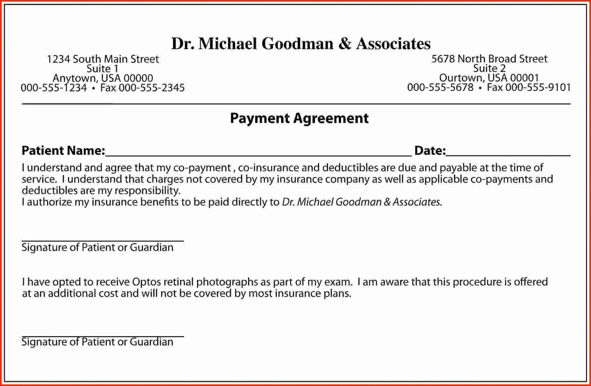 Loan Payment Plan Agreement Template