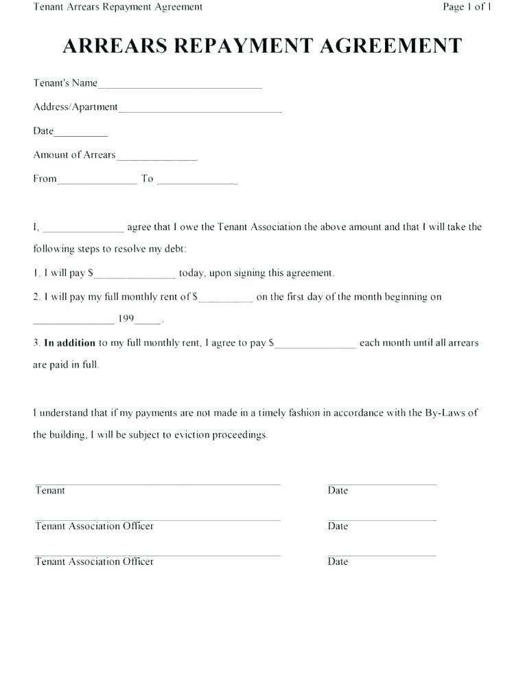 Loan Repayment Contract Free Template