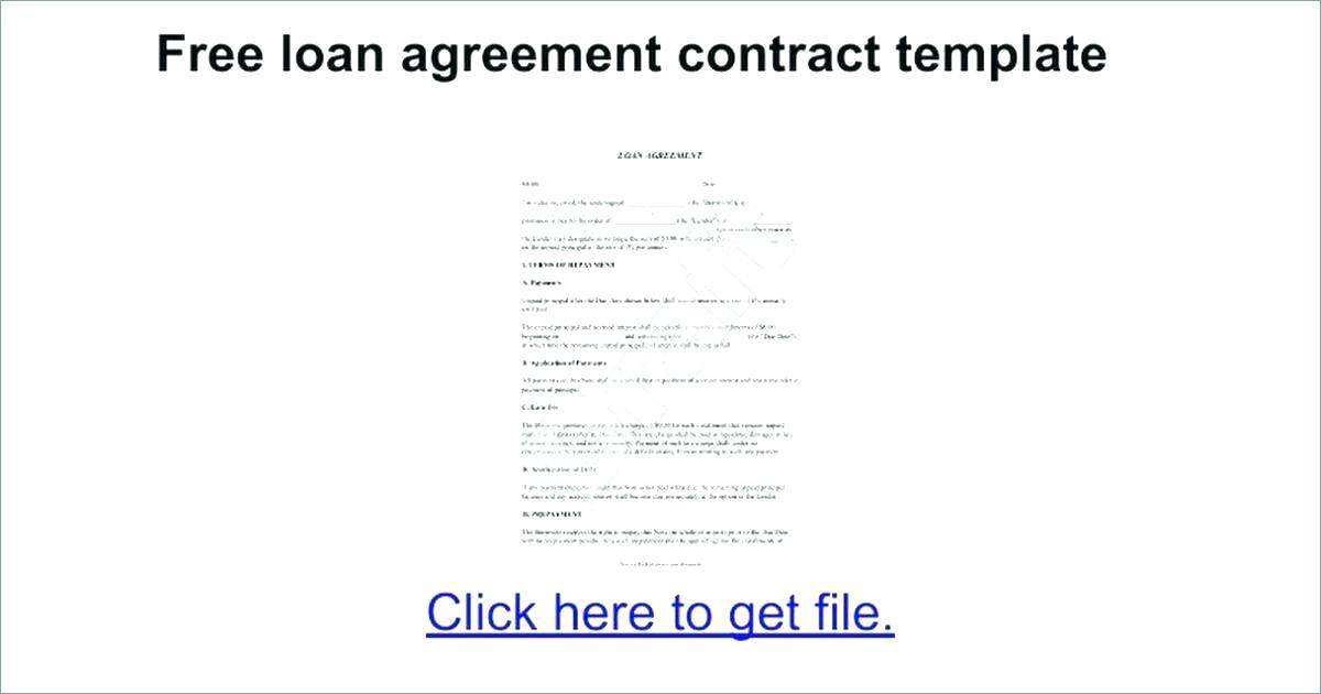 Loan Repayment Contract Template Free