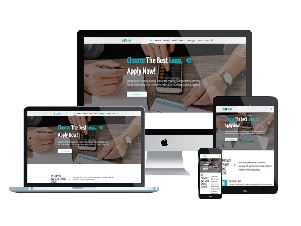 Loan Template WordPress