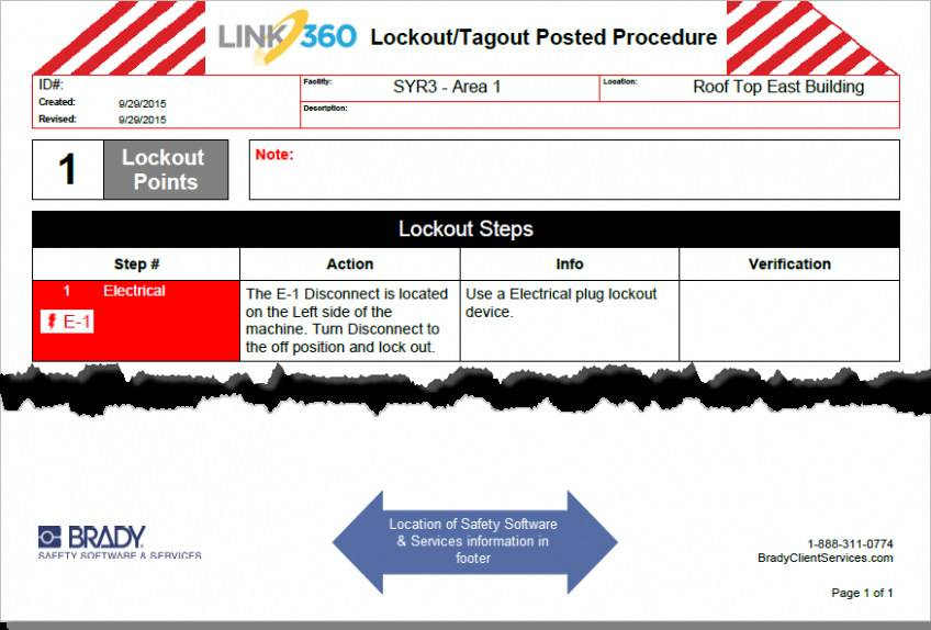 Lockout Tagout Procedure Template Excel
