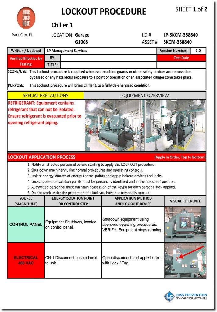 Lockout Tagout Procedure Template