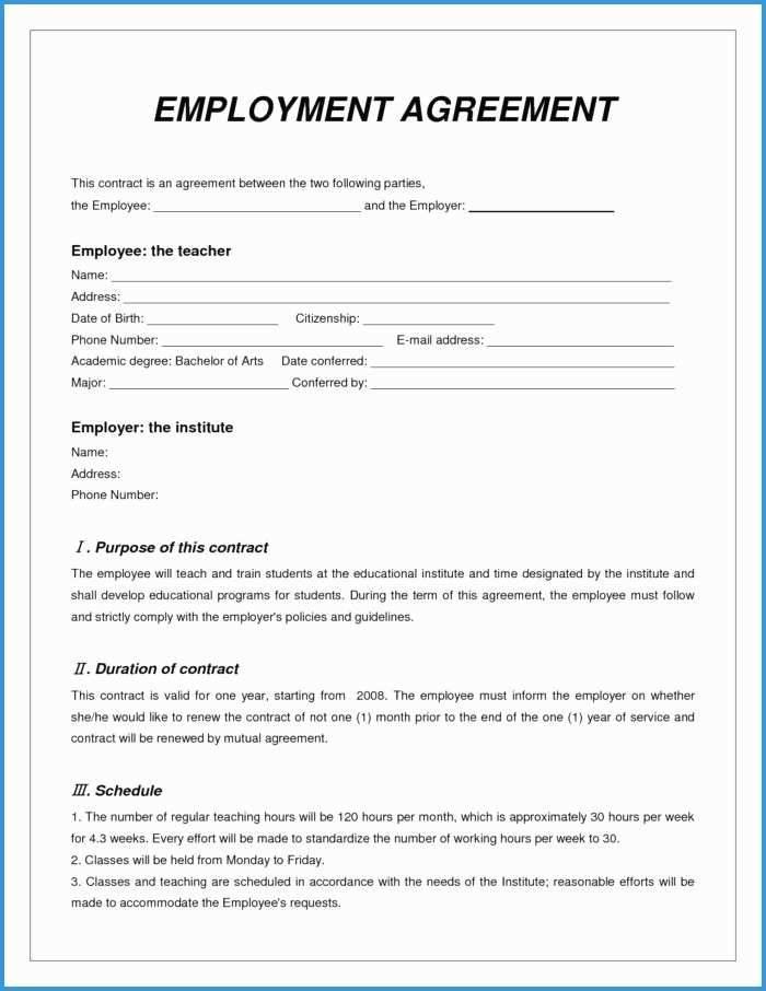 Locum Contract Template