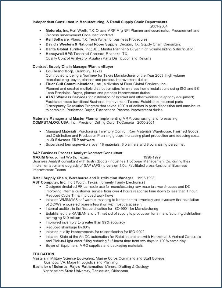 Logistics Supervisor Job Description Resume