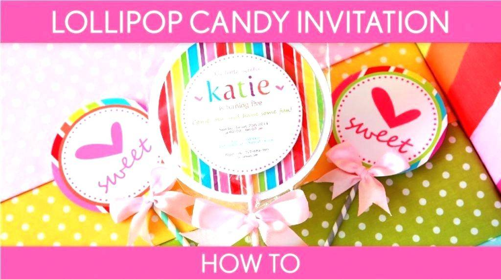 Lollipop Birthday Invitation Template