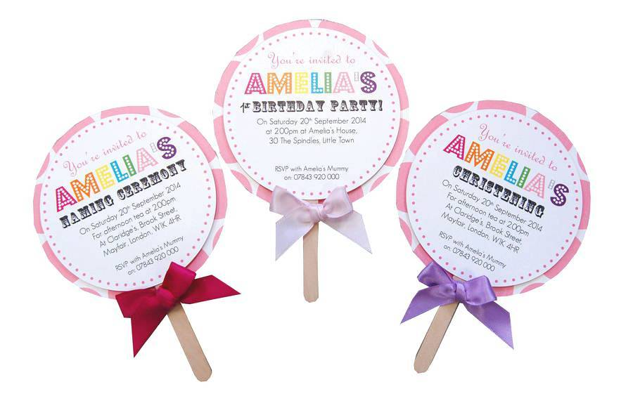 Lollipop Invitation Template Free