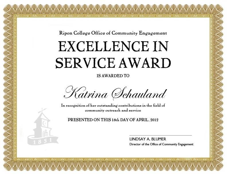 Long Service Award Certificate Template 2010