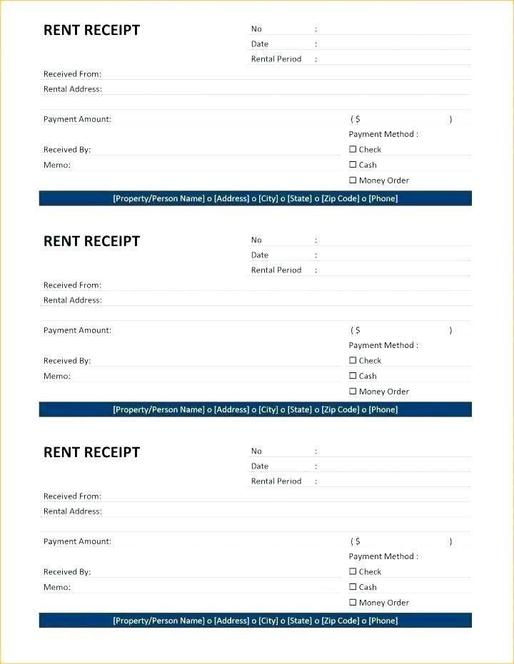 Lost Receipt Declaration Form Template