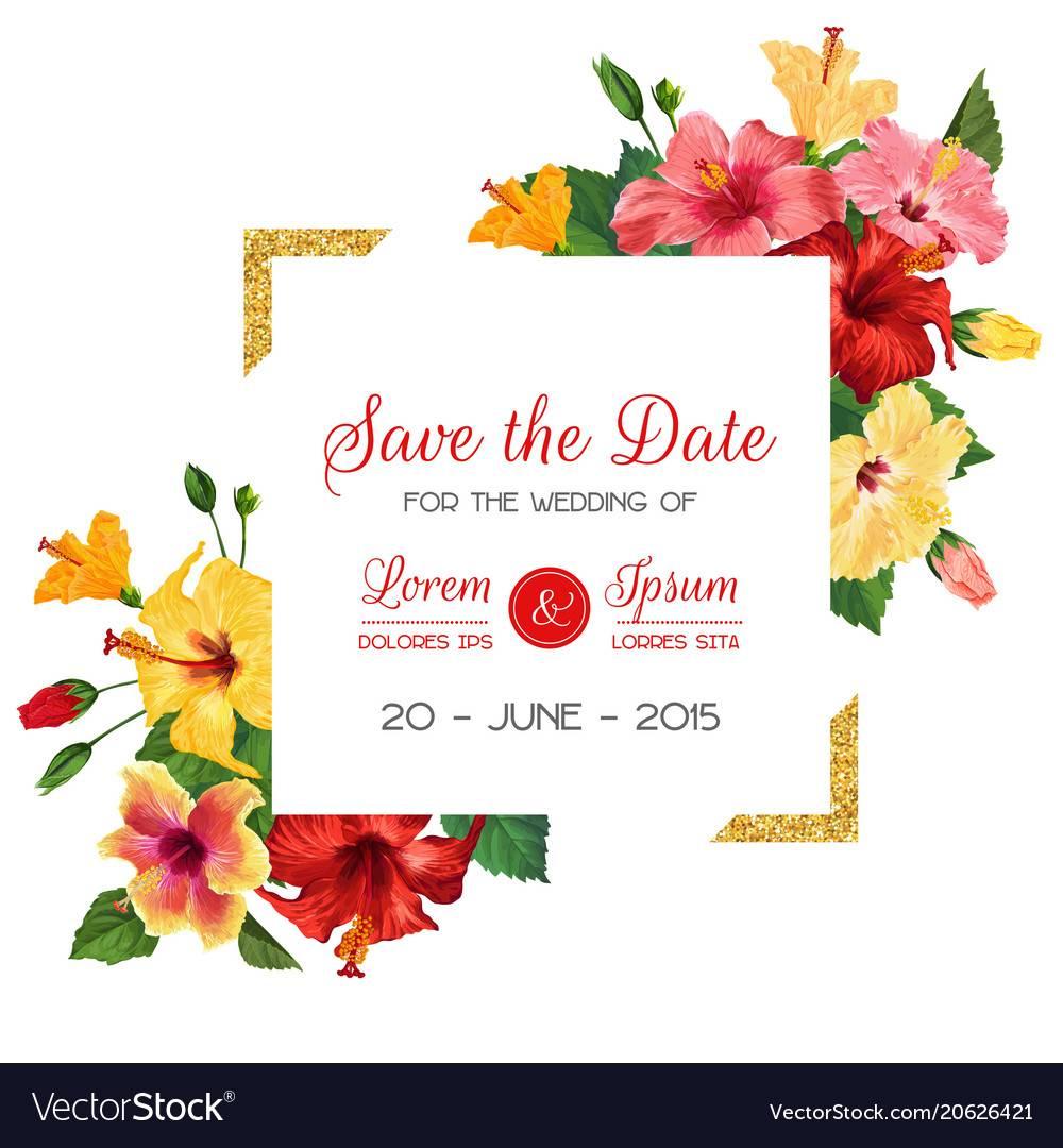 Lotus Flower Invitation Template