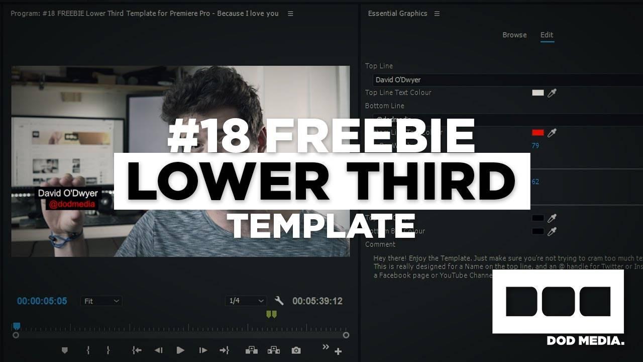 Lower Third Templates Premiere Pro Cs6