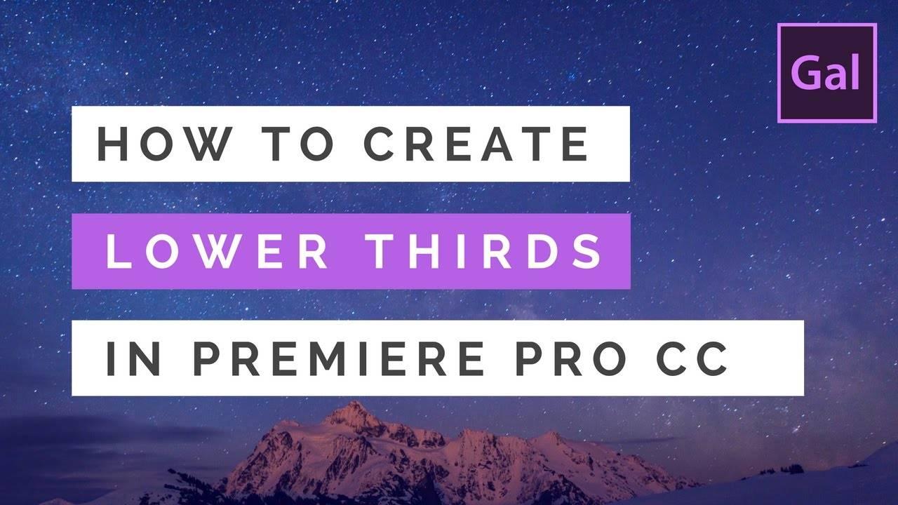 Lower Third Templates Premiere Pro