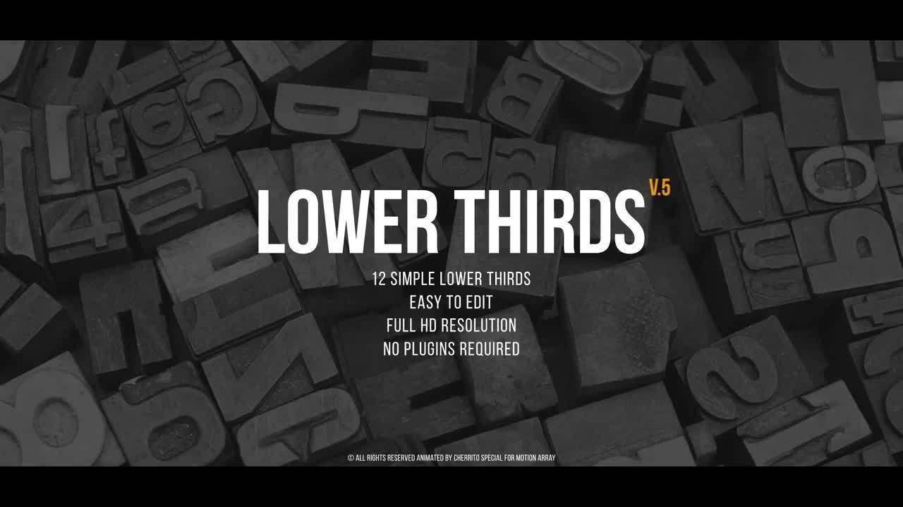 Lower Thirds Templates Premiere Pro Free