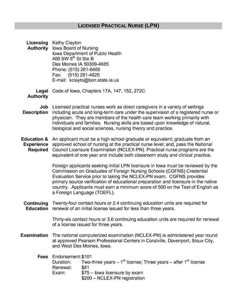 Lpn Nursing Resume Templates