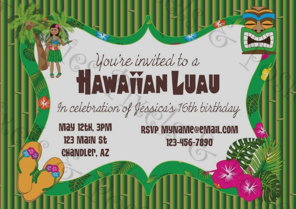 Luau Invitation Template