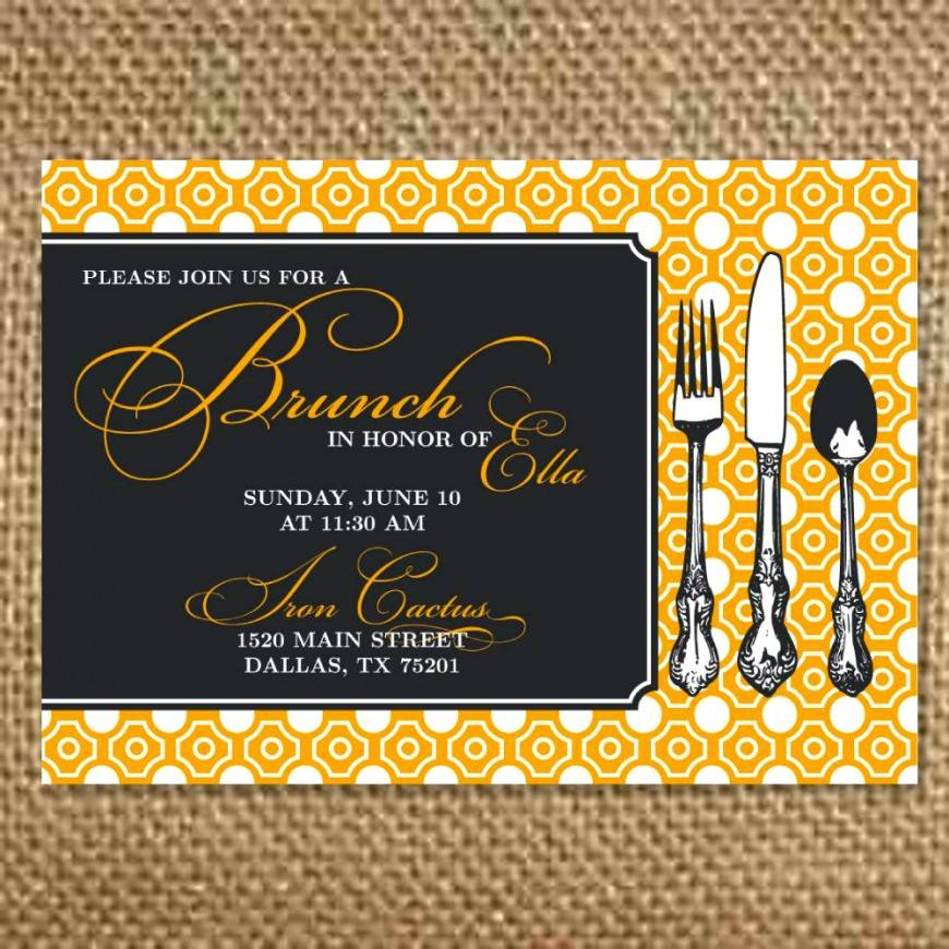 Lunch Invitation Samples