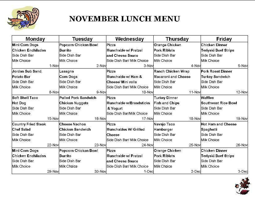 Lunch Menu Templates Free Download