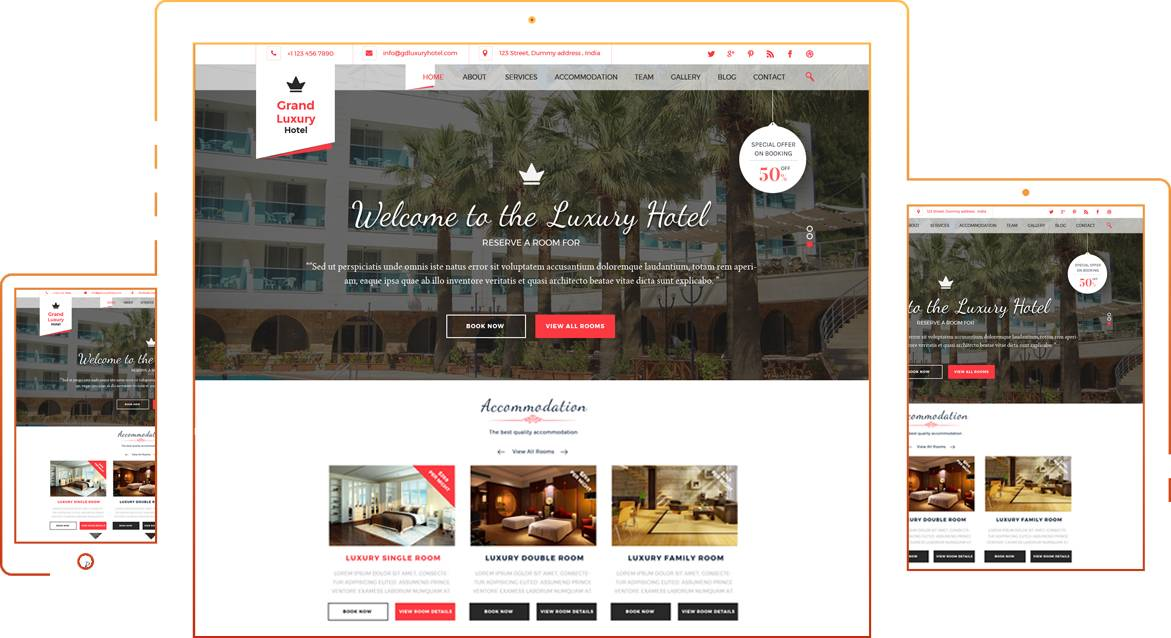 Luxury Hotels Website Free Templates