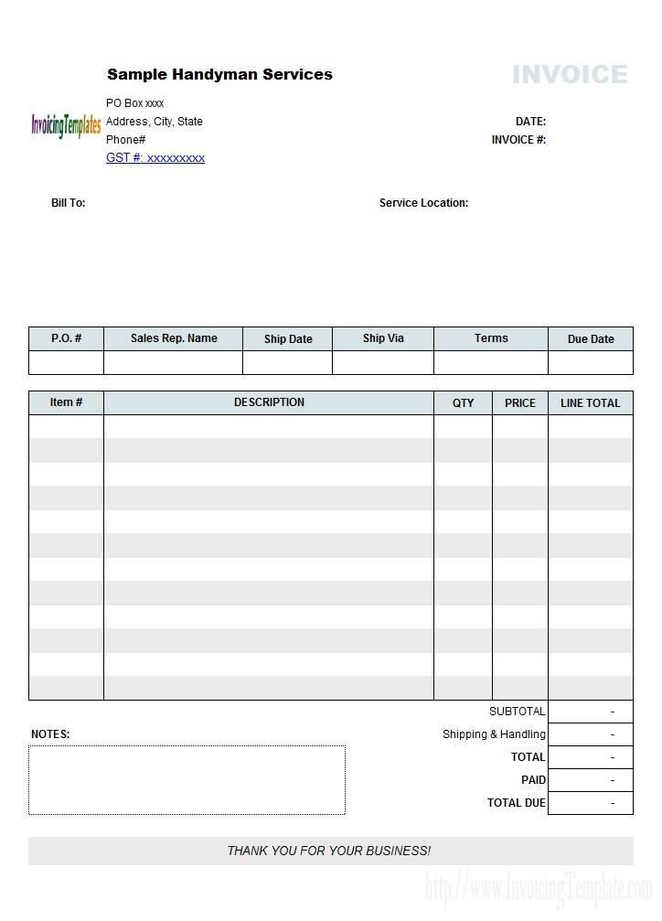 Mac Invoice Templates
