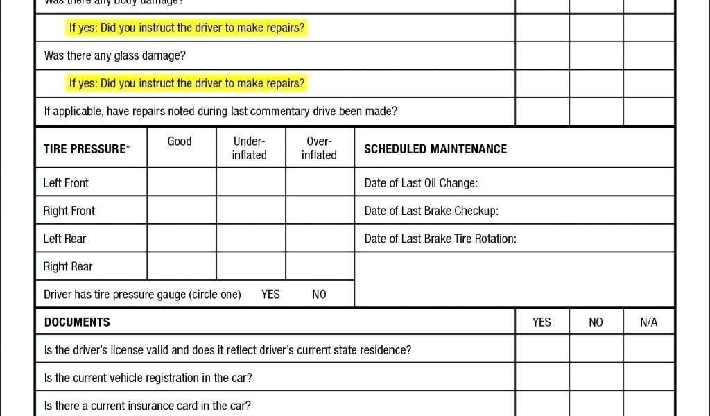 Machine Preventive Maintenance Checklist Format
