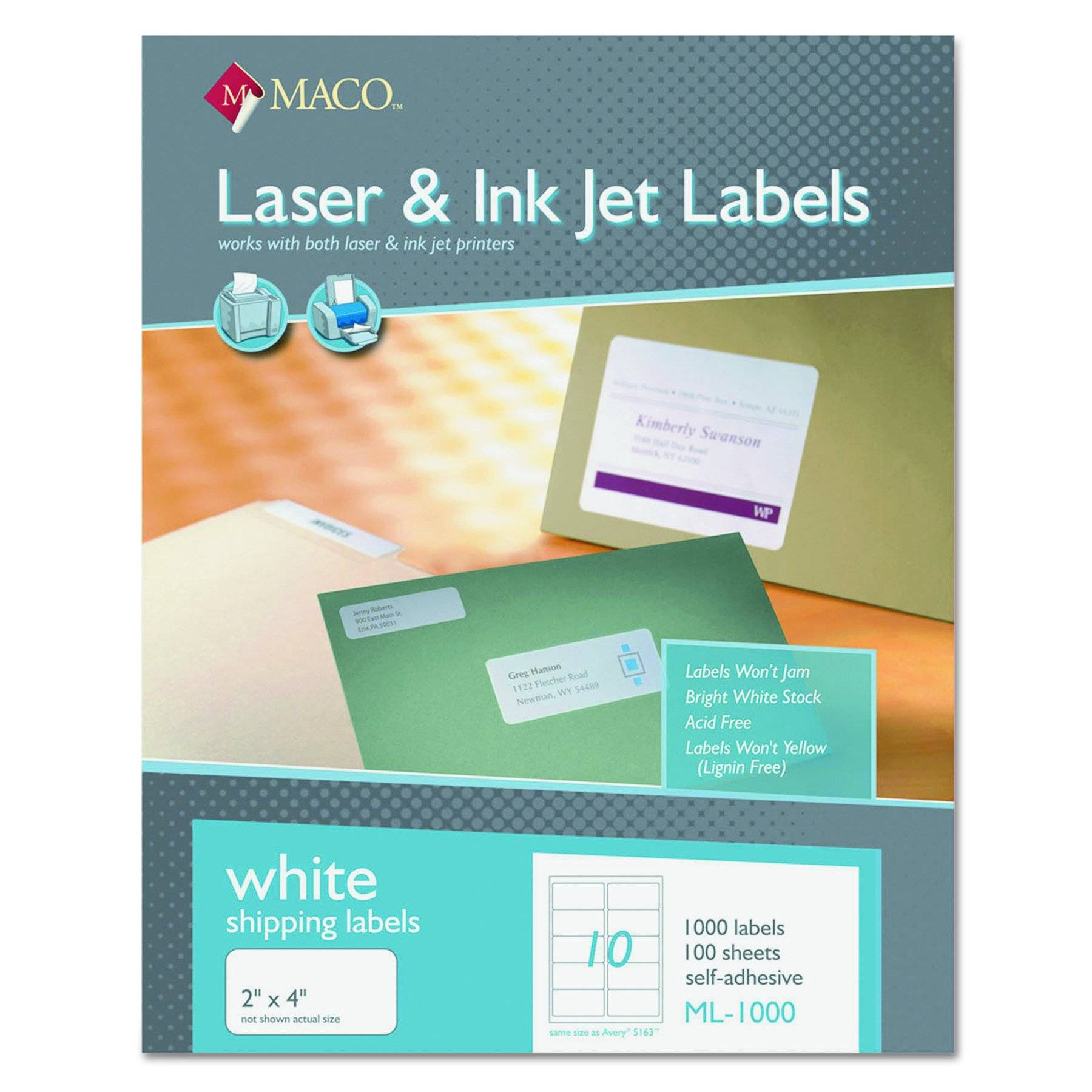 Maco 2×4 Label Template