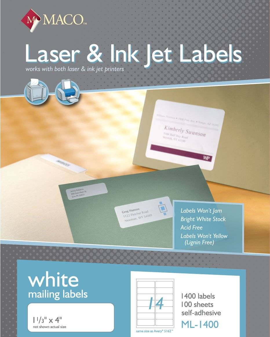 Maco Labels Template Ml 1400