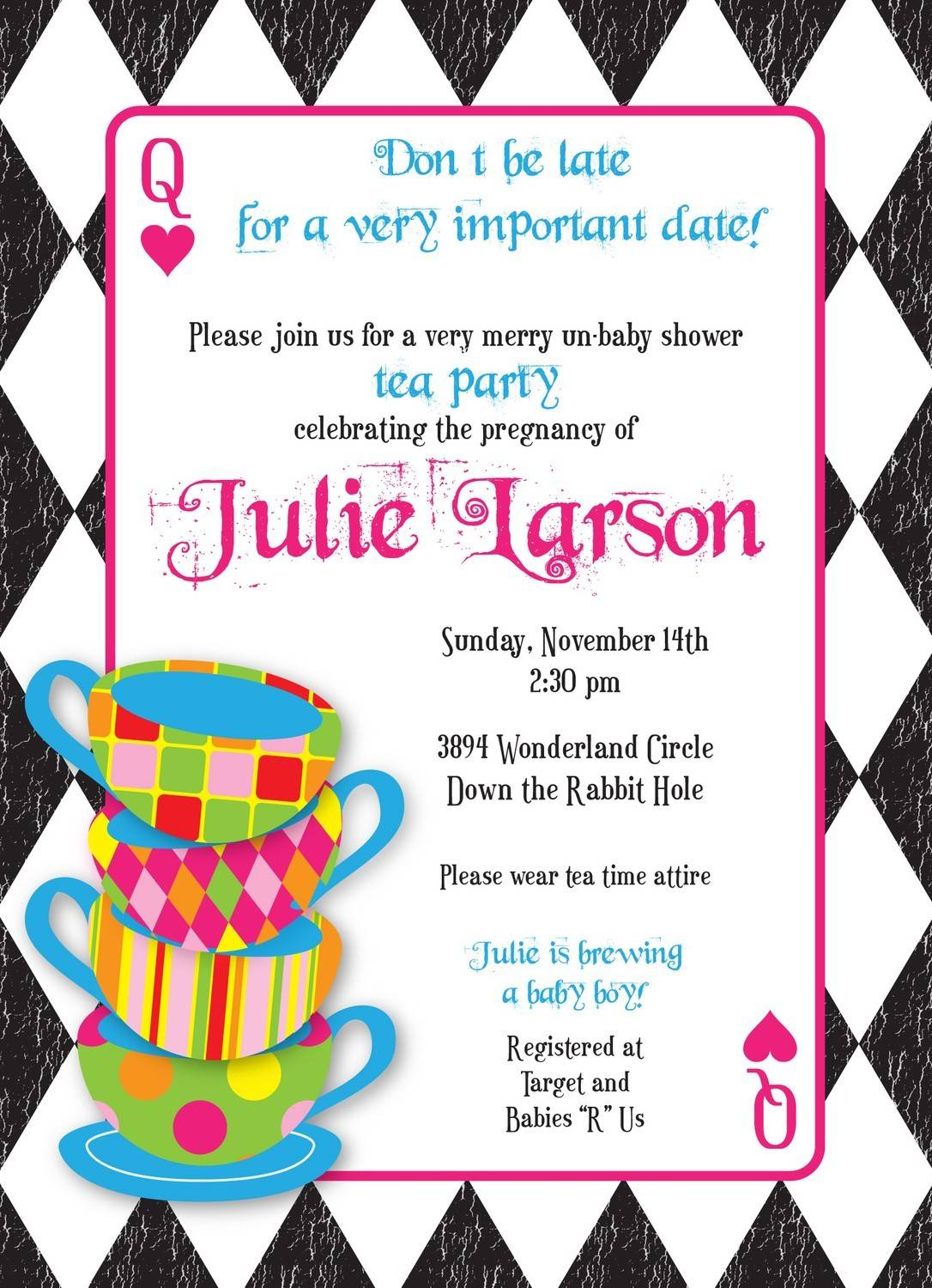 Mad Hatter Invitation Template
