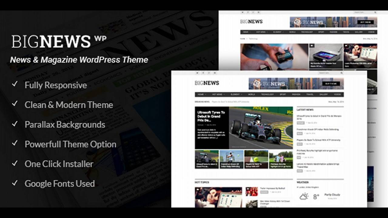Magazine Blog Templates WordPress