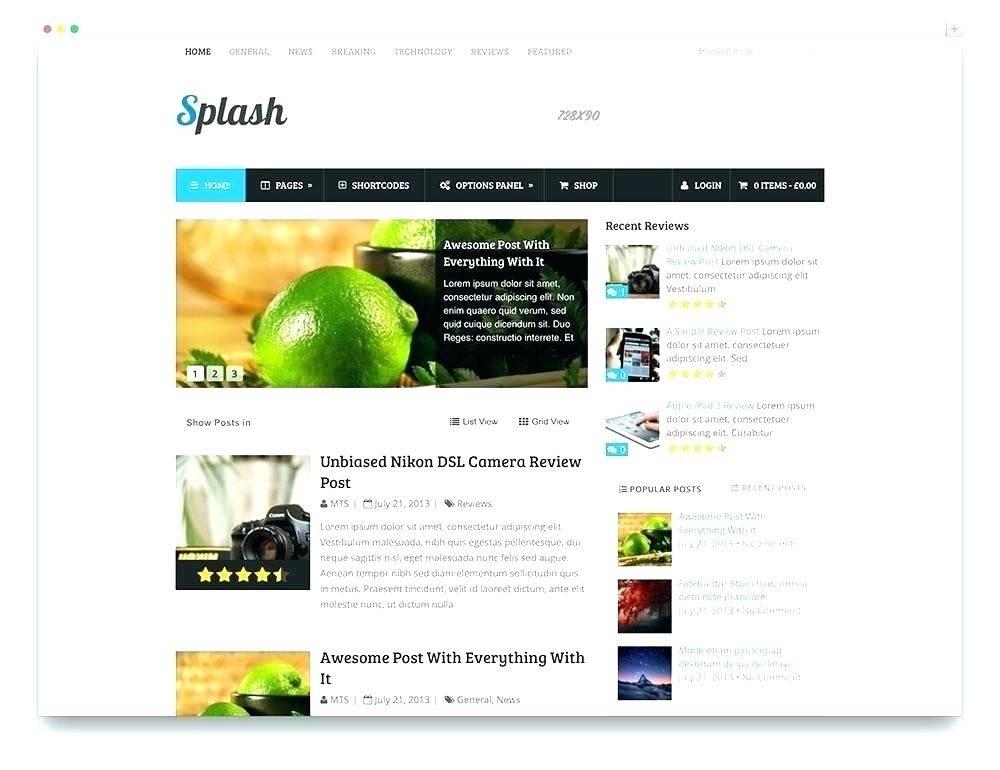 Magazine Cover WordPress Template