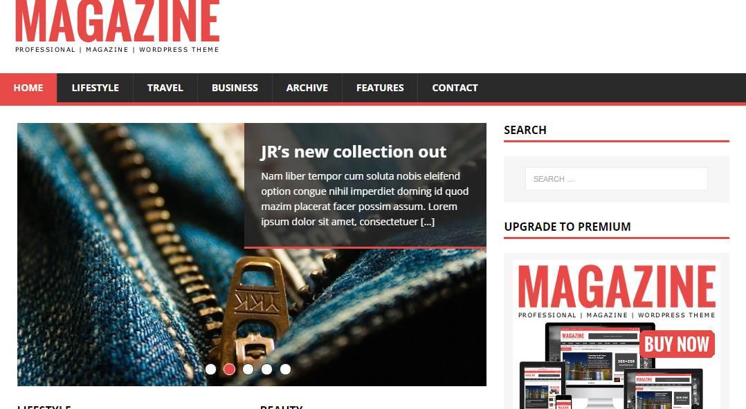 Magazine Template WordPress Free Download