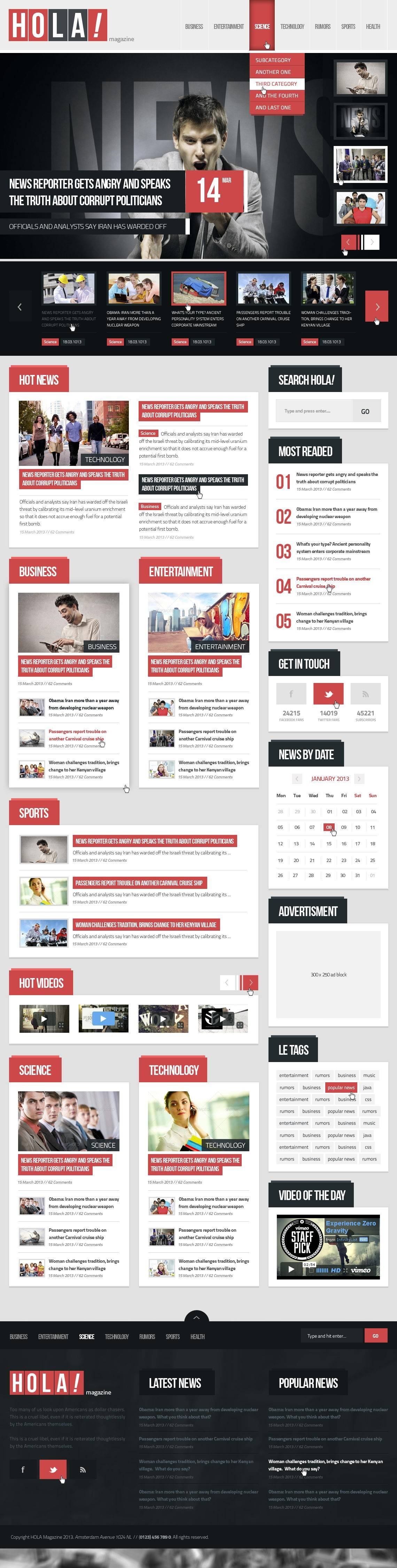 Magazine Template WordPress Free